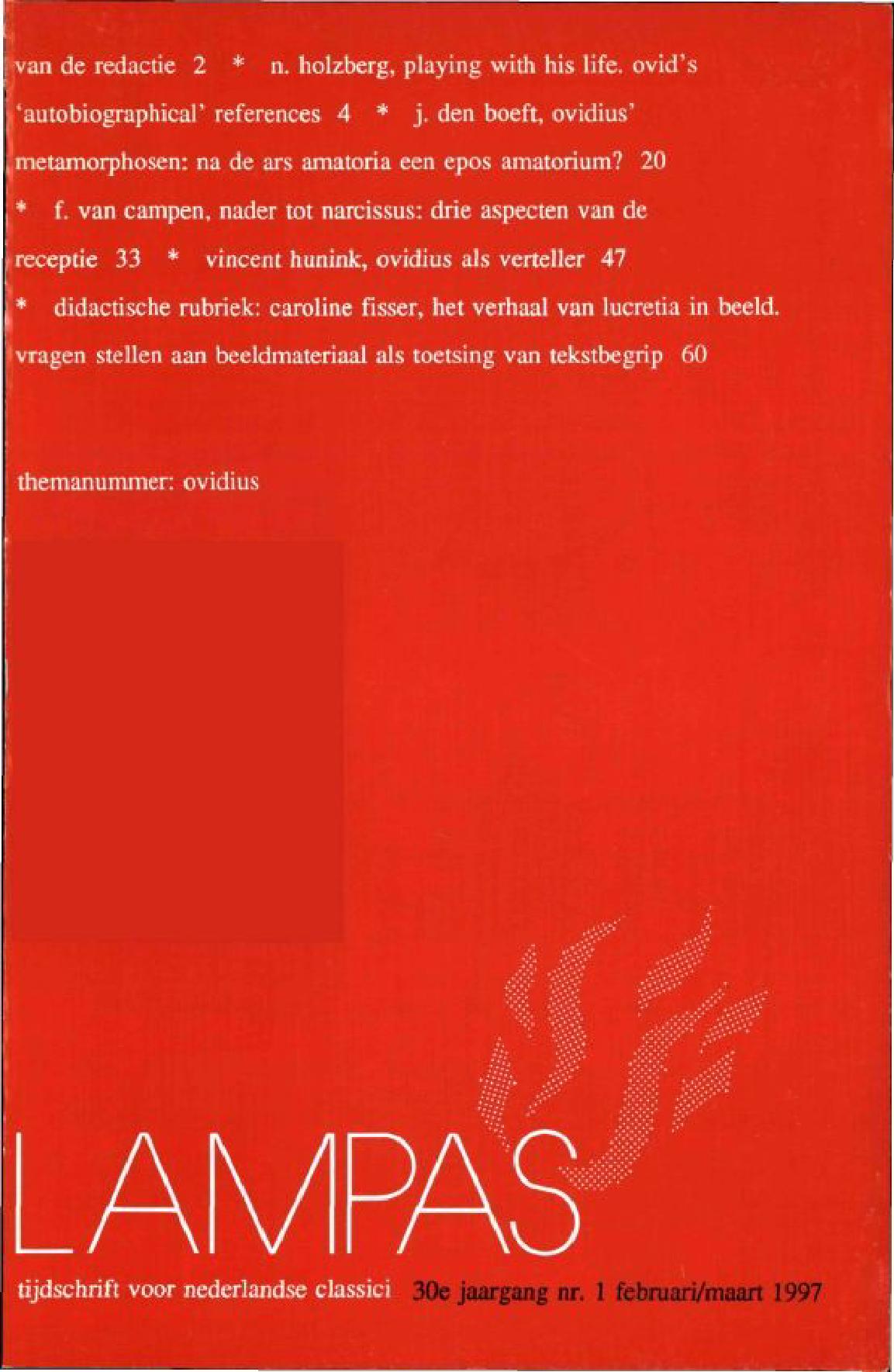 Lampas Tijdschrift Voor Nederlandse Classici Digitale Bibliotheek
